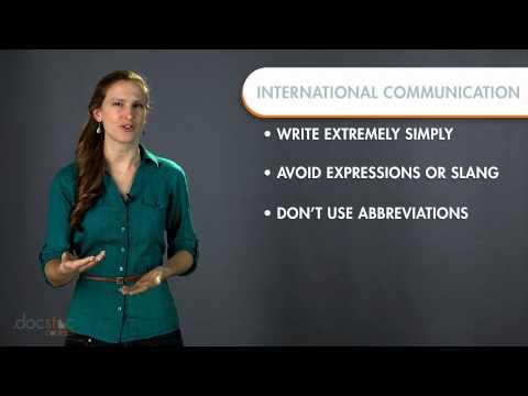 International Communication Language Barriers - Business Writing & Grammar