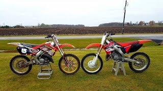 10. 2007 Honda Cr 125 vs 1999 Honda Cr 125!!!