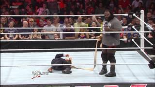 Mark Henry demonstrates a Strap Match with Josh Mathews: Raw, May 13, 2013