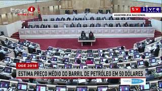 Parlamento angolano aprova OGE 2018