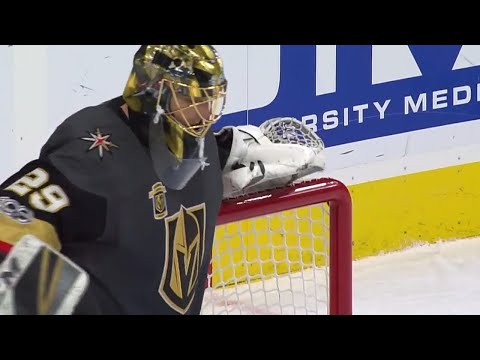 Video: Saves of the Month: Fleury flashback & Price outdoor acrobatics