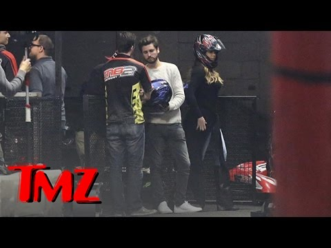 Scott - Scott and Kourtney Kardashian just welcomed their third child but Scott left them behind to join Khloe and Kris Jenner for some … go kart racing?