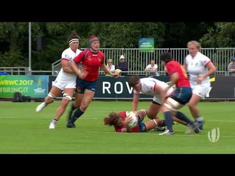 Watch Huge tackle from USA star Sara Parsons!