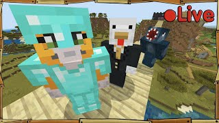 Minecraft - W/Squid + Sqaishey - • Live