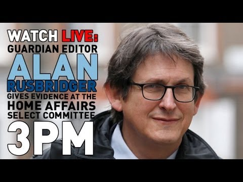 youtube editor - Guardian editor, Alan Rusbridger, is having to defend his newspaper's coverage of the Edward Snowden, NSA and GCHQ story in front of a committee of MPs. Snow...