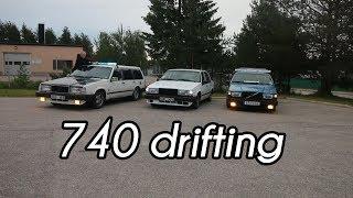 Härnösandsgrabbarna från Garageswedes bjuder på sladd och burnouts med sina 740s. Garageswedes:...