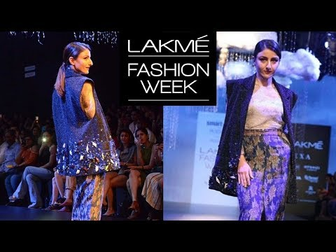 Soha Ali Khan Stunning Ramp Walk At Lakme Fashion