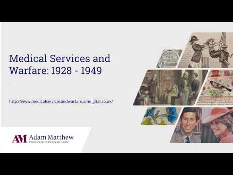 Medical Services and Warfare 1928-1949 - New for 2020