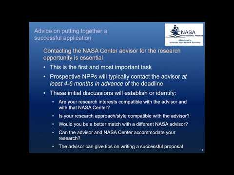 Federal Grant Proposal Writing 101: NASA Postdoctoral Program Fellowship