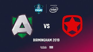 Alliance vs Gambit, ESL One Birmingham, bo2, game 1 [Lex & 4ce]