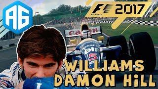 """Primeiro evento """"invitational"""" da temporada do F1 2017 pilotando a Williams FW18 de 1996 no circuito curto de Silvertone na..."""