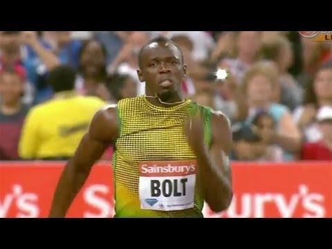 Usain Bolt big win in 100m - London Diamond League 2013