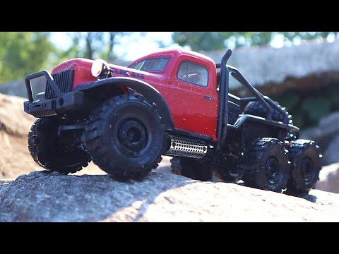 1/18 Scale FMS ATLAS 6x6 RC Crawler - Real Off Road Performance