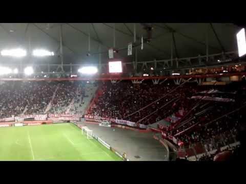Hinchada | Recibimiento / Estudiantes 2-1 Ind. Santa Fe | Copa Libertadores 2015 - Los Leales - Estudiantes de La Plata
