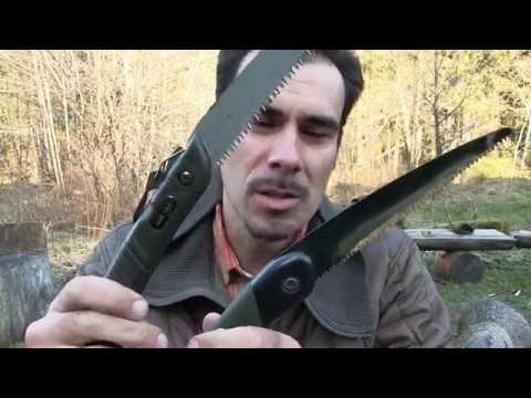 [Review] Klappsägen für den Bushcraft-Bereich (Bahco Lappländer & MilTec)   Outdoor AusrüstungTV