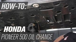6. How To Change the Oil on a Honda Pioneer 500