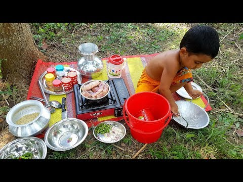 Delicious Hilsa Fish Eggs Cooking By 4 Years Baby Sneyha - Kids Picnic Of Elish Fish Eggs Curry