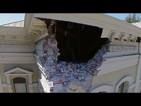 View - See a drone's eye view of the aftermath of the 6.0 Napa earthquake.