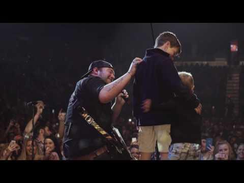 Lee Brice's Boys Surprise Him On Stage in Evansville, IN