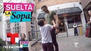 Video oficial de Telemundo Suelta La Sopa. La bella actriz acompaña a su novio Sebastian Rulli y pasean con el hijo que el tuvo con Cecilia Galliano.
