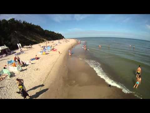 Jastrzębia Góra - Plaża i morze - Oczami Ptaka - Video