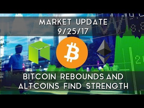 Market Update 9/25/2017 | Bitcoin rebounds and altcoins find strength video