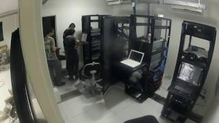 Server room reinstallation after flooding - Time Lapse