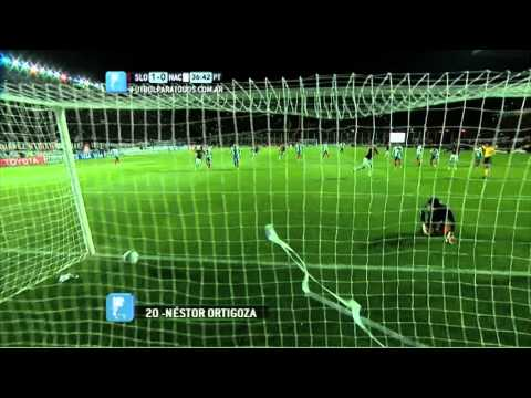 gol na final libertadores - El volante de San Lorenzo Néstor Ortigoza abrió la cuenta de penal a los 35 minutos de la pirmera eatapa.