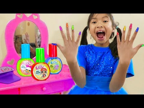 Nail salon - Wendy Pretend Play Painting Nails w/ LOL Surprise Nail Beauty Salon Makeup Toys