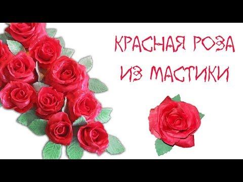 Как сделать красную розу на торт. МК по новому рецепту мастики. Флористика  Ноw То Маке Fоndаnт Rоsе - DomaVideo.Ru