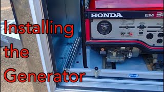 9. INSTALLING THE HONDA GENERATOR IN THE NEW RACE CAR TRAILER 🤔🤔🤔