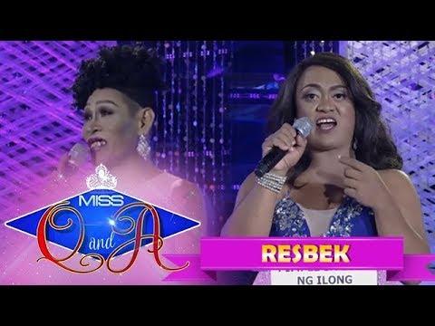 It's Showtime Miss Q & A Resbek: Angelika Mapanganib vs. Queen Isabela Lopez    Di Ba? Teh! Part 1