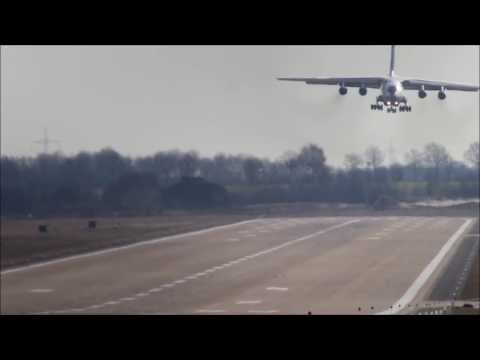 IL-76 landing elegant king bird...