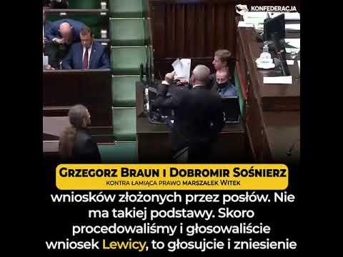 """Grzegorz Braun do Kaczyńskiego: """"Jesteście lekko zdezorganizowaną grupą przestępczą!"""""""