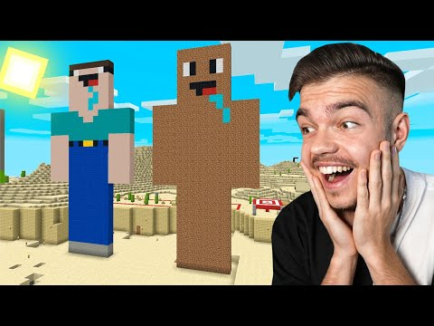ZROBILIŚMY OGROMNY SKIN DIRCIKA z Noobkiem w Minecraft!