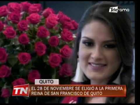 El 28 de noviembre se eligió a la primera reina de San Francisco de Quito