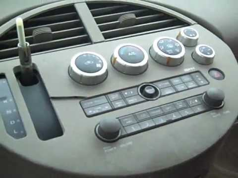 Nissan Quest Car Stereo Removal and Repair 2004-2006