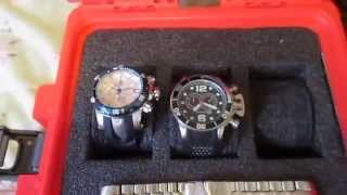 My SwissGear Wenger Scan Smart Back Pack for my 15.6 inch HP Laptop. And my 3 Invicta Watches / 58mm Invicta Reserve ...