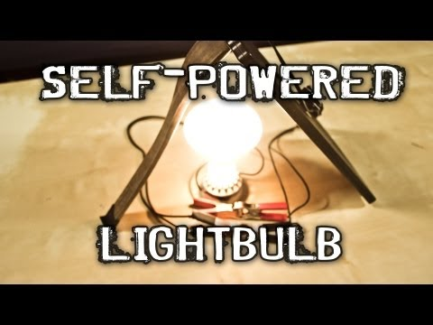 bulb - How to build a self-powered lighting fixture. Need some power in a pinch? We can boot this device up with a flashlight. Here is what you need. Here is what y...