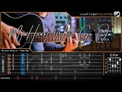 TITANIC - My Heart Will Go On - Fingerstyle Guitar Cover | TAB Tutorial