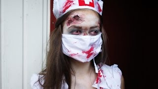 Halloween makeup tutorial- Zombie nurse