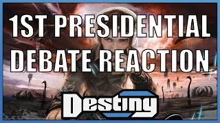 Destiny's reaction to the first 2016 presidential debate