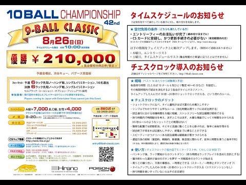 第42回 9-Ball Classic 10ボールチャンピオンシップ:決勝