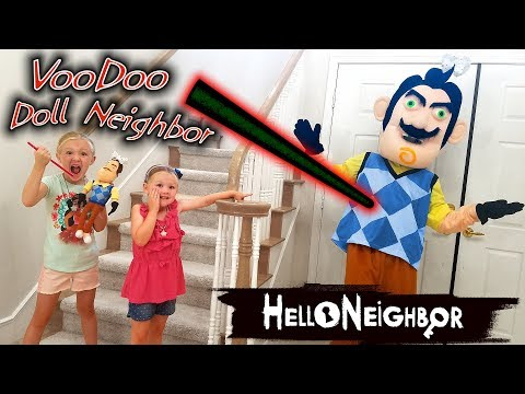 Hello Neighbor in Real Life VooDoo Doll! We Put JoJo Siwa Bows on Him!! (видео)