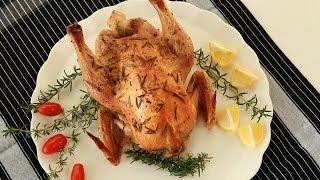Pollo jugoso con limón y romero