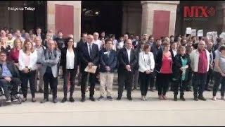 Protestan en Cataluña por arresto de dirigentes catalanes