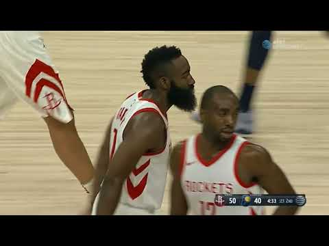 James Harden between-the-legs pass to Clint Capela