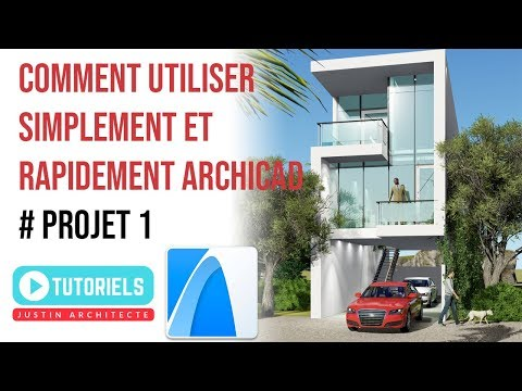 COMMENT UTILISER RAPIDEMENT ARCHICAD # PROJET 01  # EN FRANCAIS