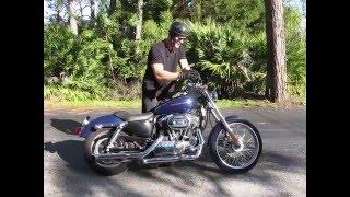 4. 2007 Harley Davidson Sportster Custom XL 1200 C (blue) 1484 Fallen Cycles Test Ride