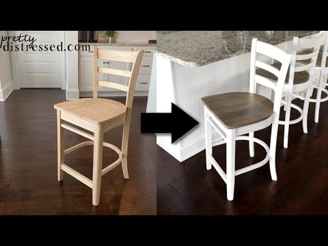 How to Paint and Stain Unfinished Wood Furniture